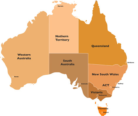 maps of australia with states. Australia Map